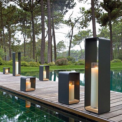 Lanterne extérieure avec bougie