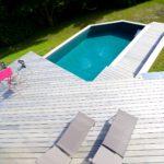 Réalisation aménagement piscine extérieure Novirtua