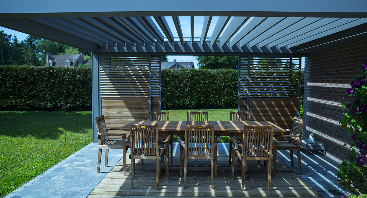 pergola bioclimatique loggia 2 novirtua. Black Bedroom Furniture Sets. Home Design Ideas