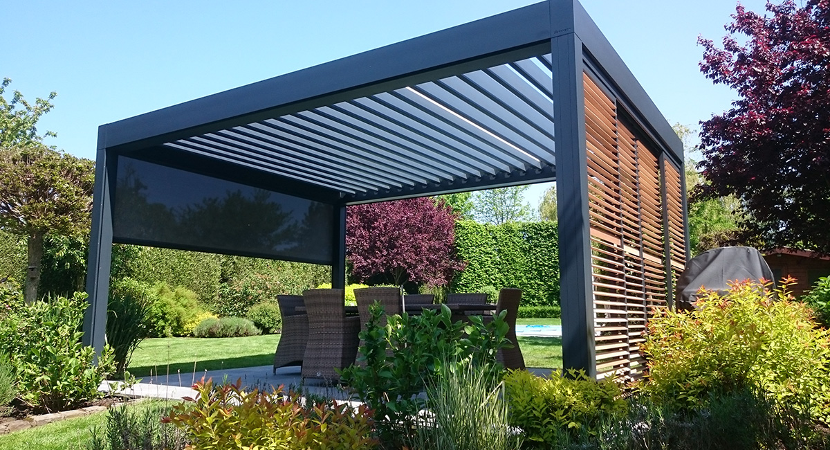 terrasse avec pergola terrasse couverte u ides tendance. Black Bedroom Furniture Sets. Home Design Ideas